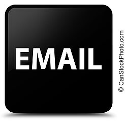Email black square button