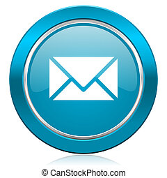 email, blauwe , pictogram, post, meldingsbord