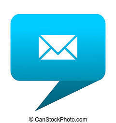 Email blue bubble icon