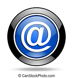 email blue glossy icon