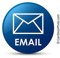 Email blue round button