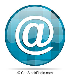 email blue round modern design internet icon on white background