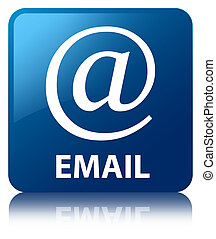 Email blue square button