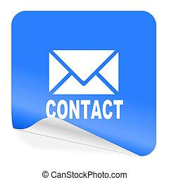 email blue sticker icon