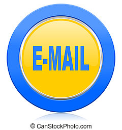 email blue yellow icon