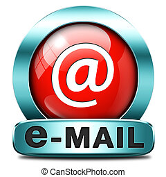 e-mail - email box or mailbox icon e-mail button inbox and ...