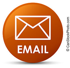 Email brown round button