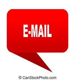 email bubble red icon