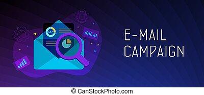 Email Campaign Digital Marketing concept. Inbound or ...