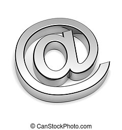 Email Chrome Sign