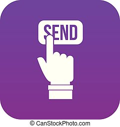 Email communication concept icon digital purple
