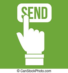 Email communication concept icon green