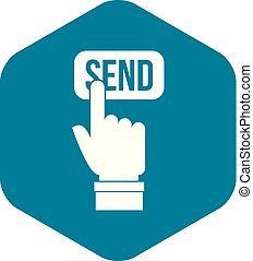 Email communication concept icon, simple style