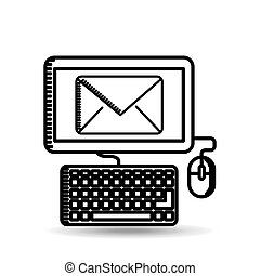 email computer concept digital online icon
