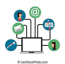 email concept design, vector illustration eps10 graphic