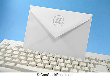 email concept - envelope and keyboard, concept of email
