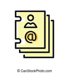 email contact icon color