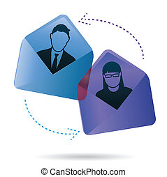 Email Conversation - Two people have an email conversation....