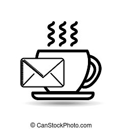 email cup coffee breakfast icon