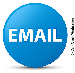 Email cyan blue round button