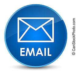Email elegant blue round button