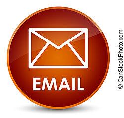 Email elegant brown round button