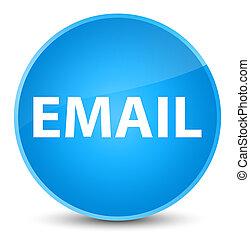 Email elegant cyan blue round button