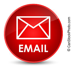 Email elegant red round button