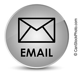 Email elegant white round button