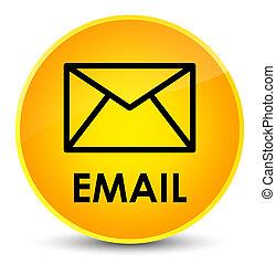 Email elegant yellow round button