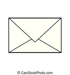 Email envelope letter symbol isolated in black and white
