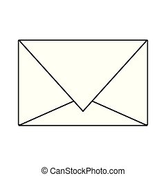 Email envelope symbol isolated in black and white
