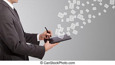 email, escritura