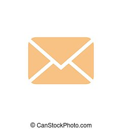 Email flat icon. Message vector illustration