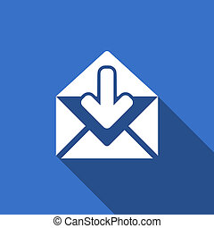 email flat icon post message sign