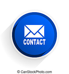 email flat icon with shadow on white background, blue modern design web element