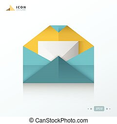 email flat origami icon
