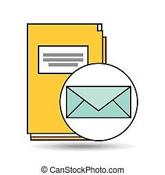 email folder directory book design vector illustration eps...