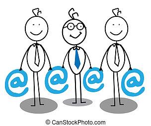 email, forretningsmand, gruppe
