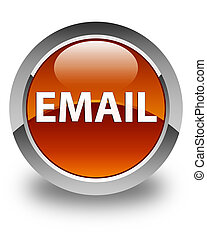 Email glossy brown round button