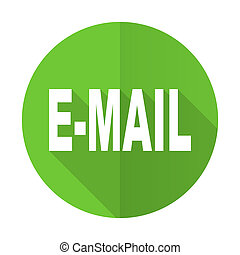 email green flat icon
