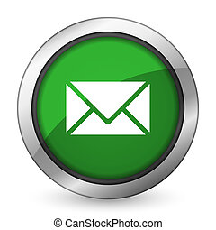 email green icon post sign