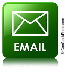 Email green square button