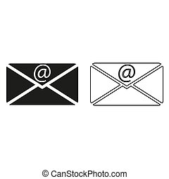 email - green vector icon
