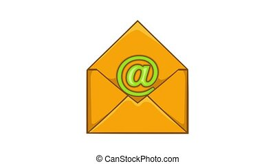 Email icon animation cartoon best object isolated on white background