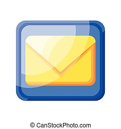 email icon app on white background