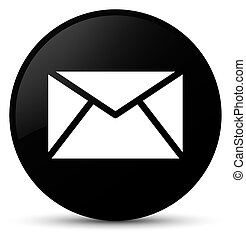 Email icon black round button