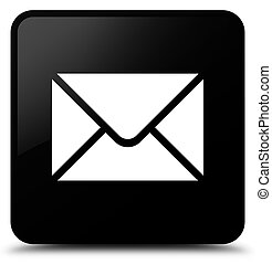 Email icon black square button