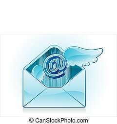 email icon - blue email vector icon