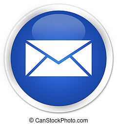 Email icon blue glossy round button